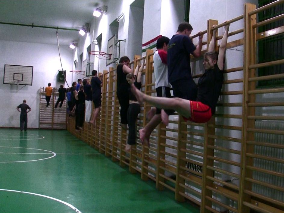 Harcművészeti edzéseinkben a bordásfal központi elem...
