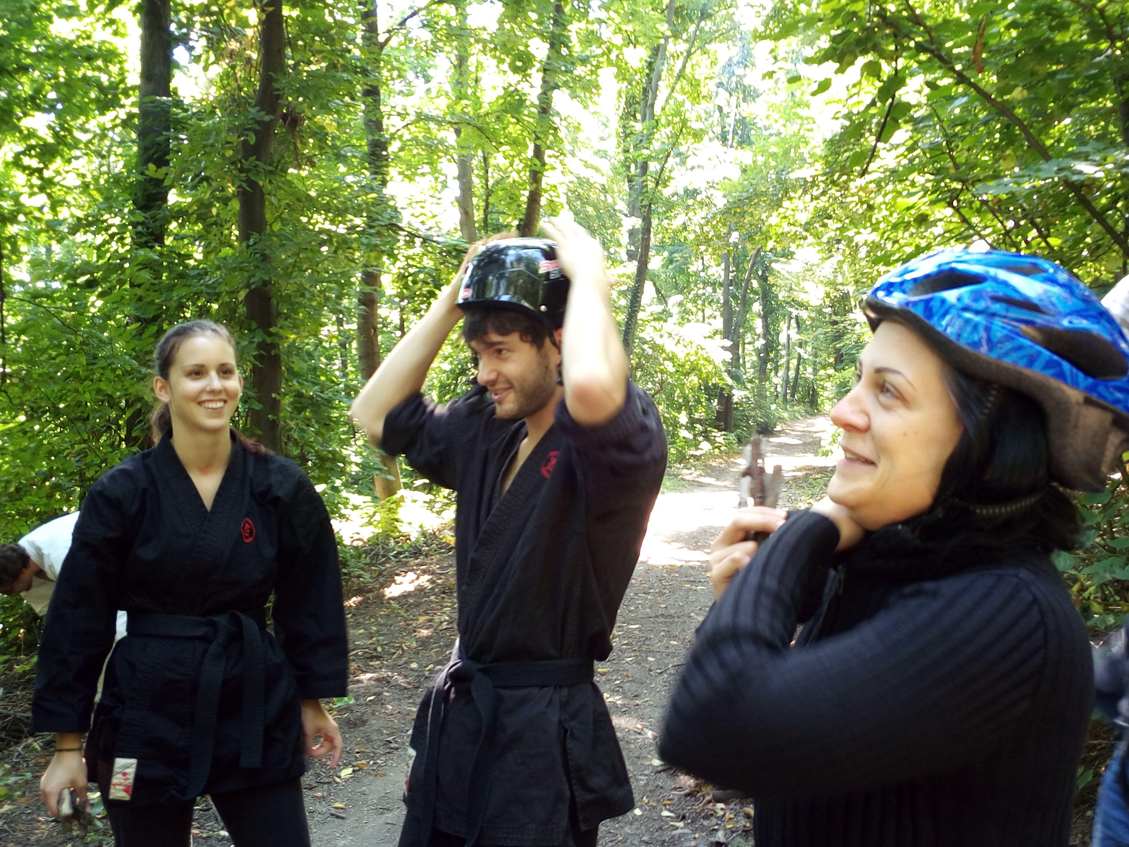 Harcművészeti edzések Budapesten - és a város közelében, a természetben is.